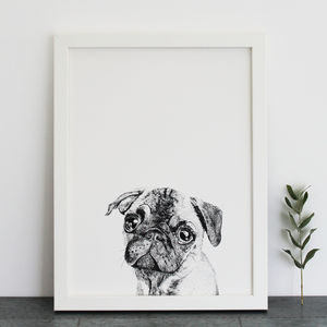 Pug Print - children's pictures & paintings