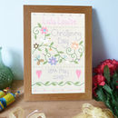 Personalised Embroidered Christening Sampler