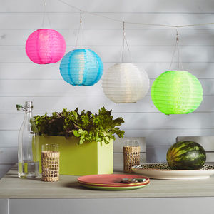 Four Solar Chinese Lanterns - lights & lanterns