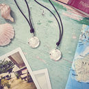 Personalised Globe St Christopher Travel Necklace