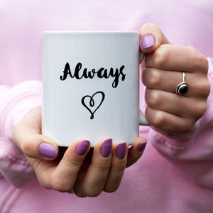 Personalised Handwritten Quote Mug - tableware