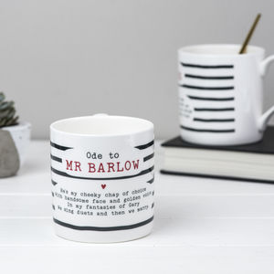 Gary Barlow Poem Bone China Mug