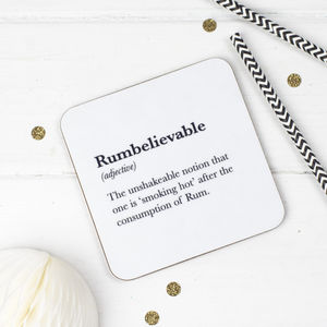 Funny Rum Coaster - placemats & coasters