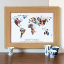 Personalised Granny's World Photo Gift Map
