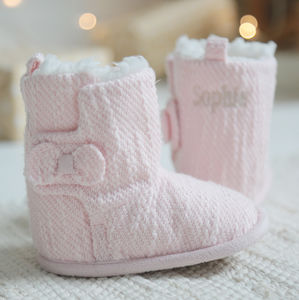 Personalised Pink Booties