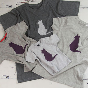 Mum And Child Cat T Shirt Set