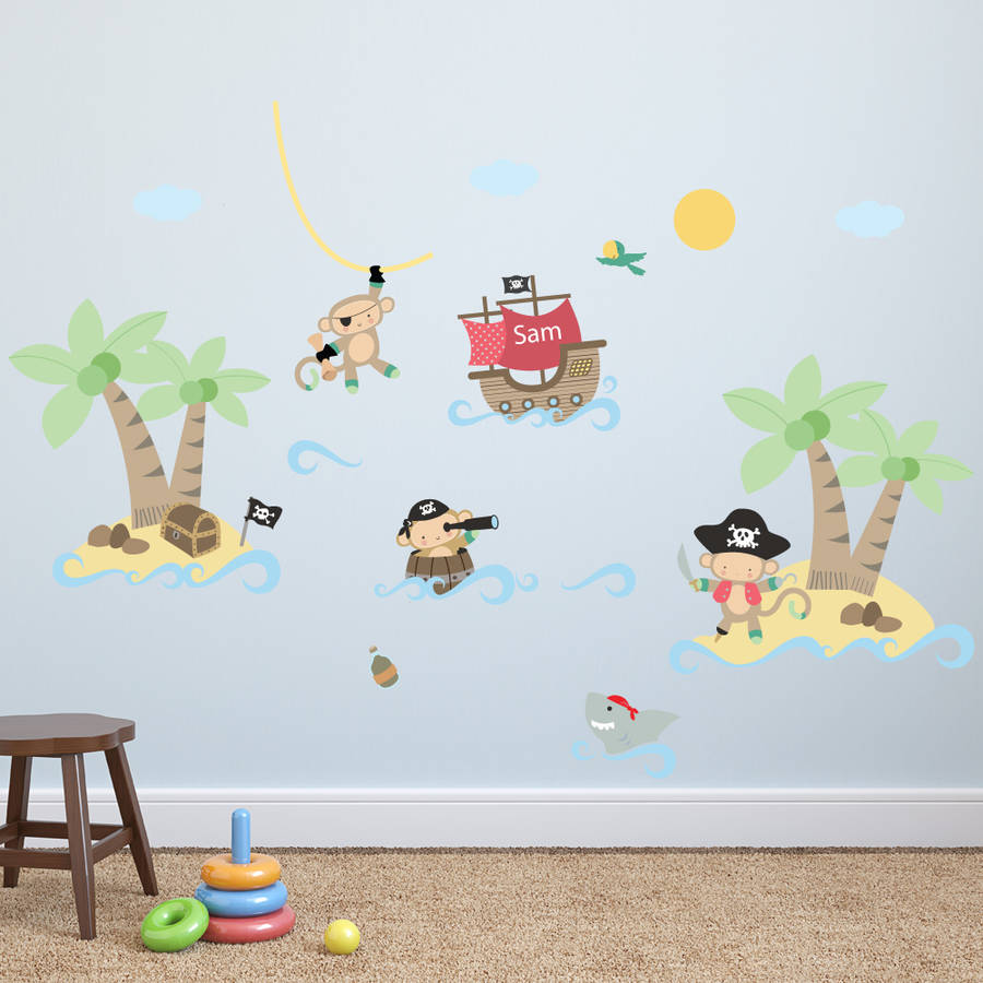 Pirate Monkey Wall Stickers By Parkins Interiors