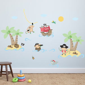 Pirate Monkey Wall Stickers - children's room