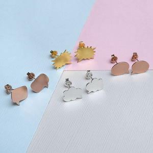 Speech Bubble Stud Earrings - earrings