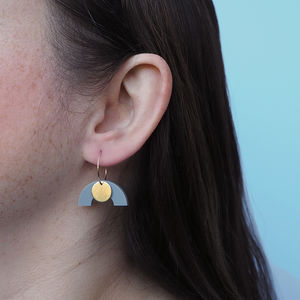 Drop Curve Earrings *Two Colourways* - earrings