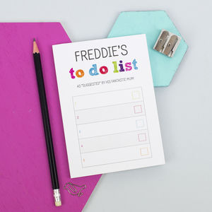Personalised A6 Colourful To Do List Notepad - summer sale