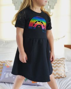 Be A Rainbow Kids Fleece Dress
