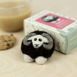 Black Sheep Brooch Needle Felting Craft Kit