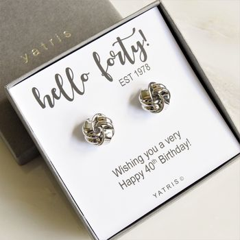 40th Birthday Knot Cufflinks
