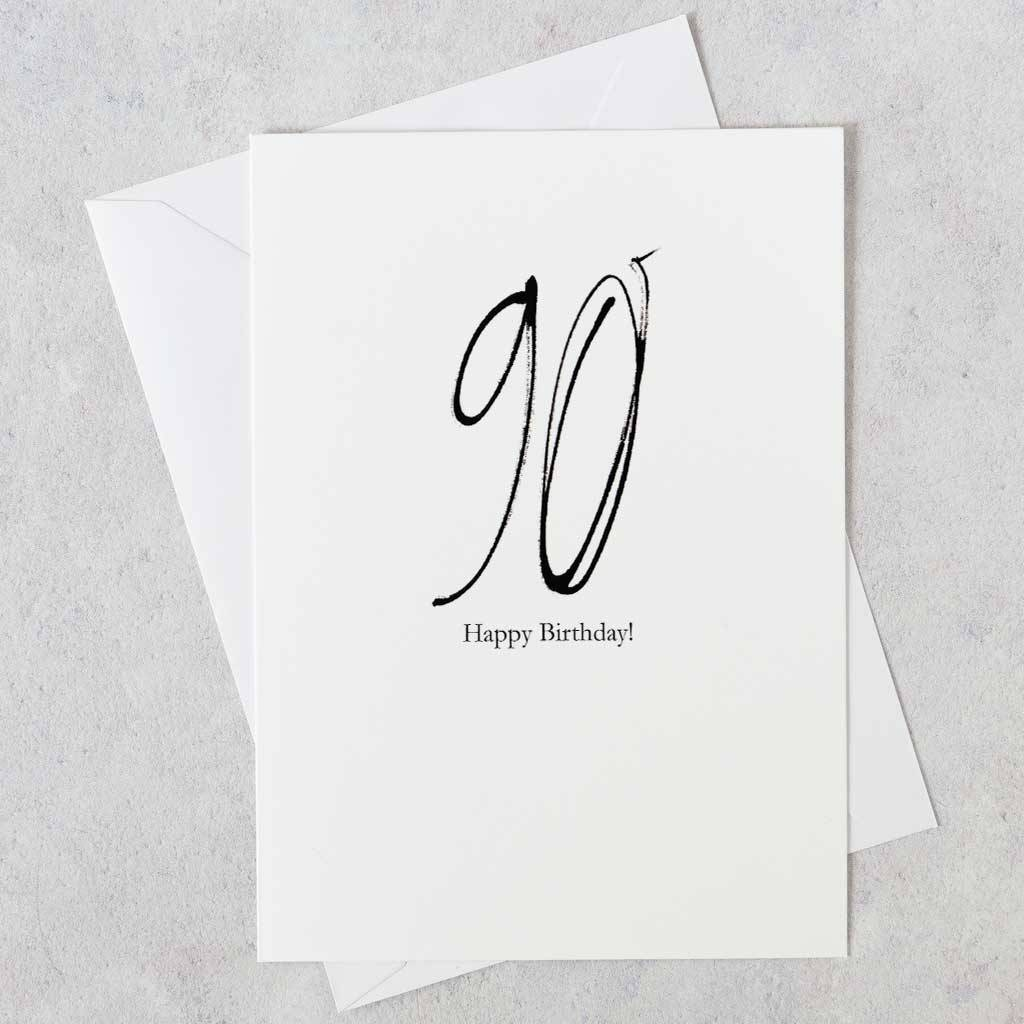 90th Birthday Card Special Age Cards Sent Direct