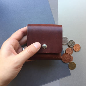 Leather Coin Purse - wallets & money clips