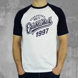 'Established' Birthday T Shirt Years 1999 To 1963 - personalised gifts for him