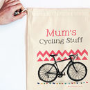 Personalised Cycling Storage Bag - 30x45cm in pink