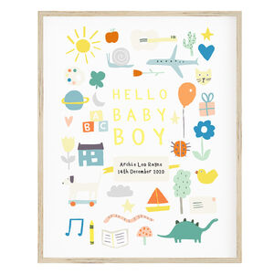 Personalised 'Hello Baby' Print