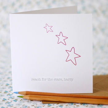 Reach For The Stars Card With Personalised Option