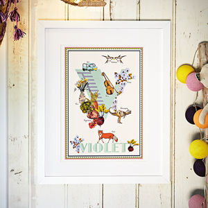 Personalised Letter/Name/Alphabet Print - personalised gifts