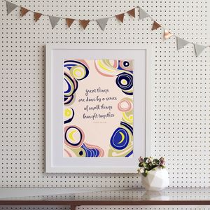 Van Gogh 'Great things' Quote Art Print