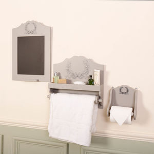 Anne Marie French Grey Wooden Bathroom Kitchen Range - bathroom