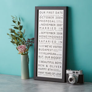 Couples Silver Wedding Anniversary Print - posters & prints