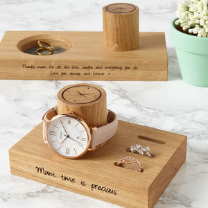 Personalised Ladies Ring And Watch Stand - bedroom