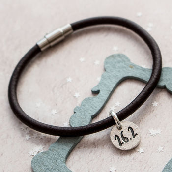 Marathon Runners Leather Bracelet