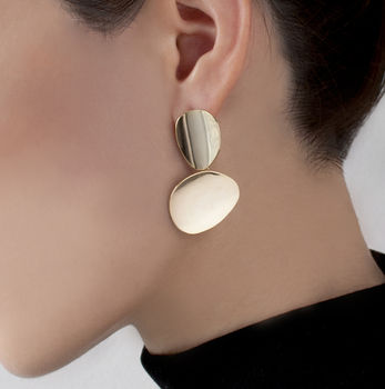 Miro Disc Asymmetric Earrings
