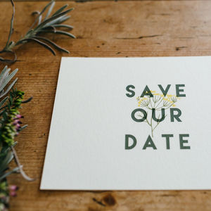 Herb Garden Wedding Save The Date Cards - invitations