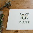 Herb Garden Wedding Save The Date Cards