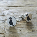 Daddy And Me Black Labrador Cufflinks And Dog Tag Set