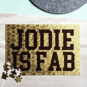 Personalised Fab Jigsaw Puzzle