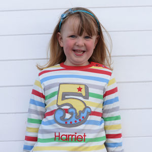 Personalised Birthday Number T Shirt - clothing