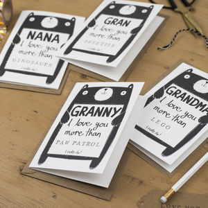 Personalised Birthday Or Mother's Day Grandma Card