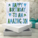 Personalised Son Birthday Book Card
