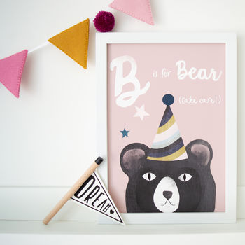 Alphabet Bear Children's Print