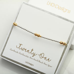 21st Birthday Stacking Bracelet Gift For Her