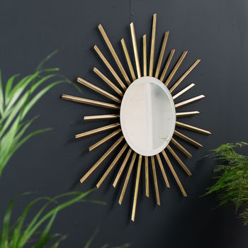 Gold Deco Sunbeam Mirror