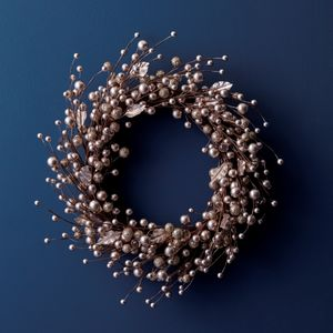 Gold Berry Christmas Wreath Or Garland