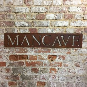 The Ultimate Metal Mancave Sign - home accessories
