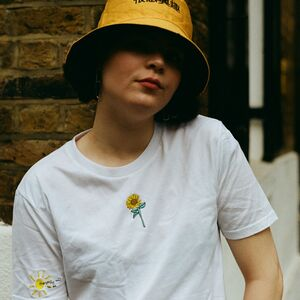 Embroidered Sunflower Sun T Shirt