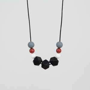 Metallic Monochrome Teething Necklace