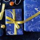Constellation Moon And Planets Wrapping Paper
