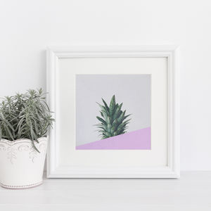 Pineapple Dip Abstract Fruit Print