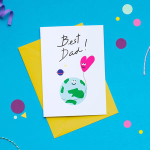 Out Of This World Best Dad Father's Day Card