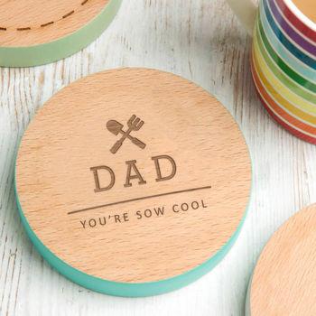 You Are 'Sow' Cool Garden Pun Personalised Coaster