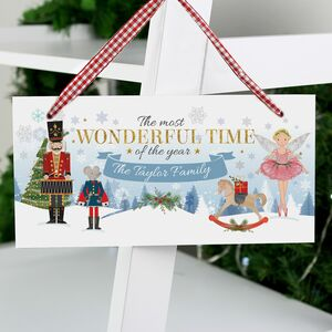 Personalised Wonderful Time Of The Year Sign